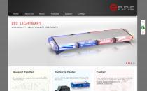 Panther Policy Equipment黑色外贸企业网站