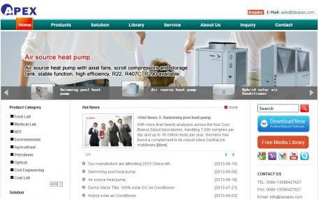 Apex外贸公司英文网站Phpcms企业网站定制