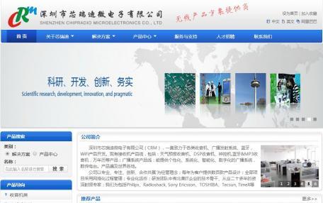 芯瑞迪微电子有限公司公司网站改版定制
