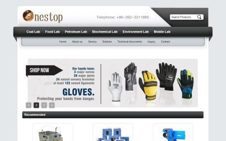 BlackProdcutEn英文外贸Phpcms黑色企业网站模板