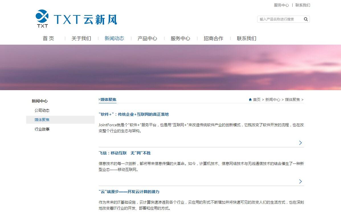 iBlueSimple蓝色简洁企业网站模板_003
