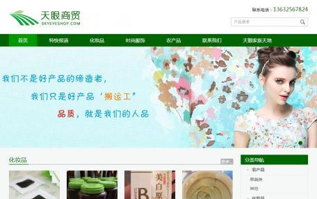 天眼商贸产品展示网站定制