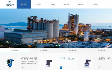 iBlueResponsive蓝色自适应企业网站模板