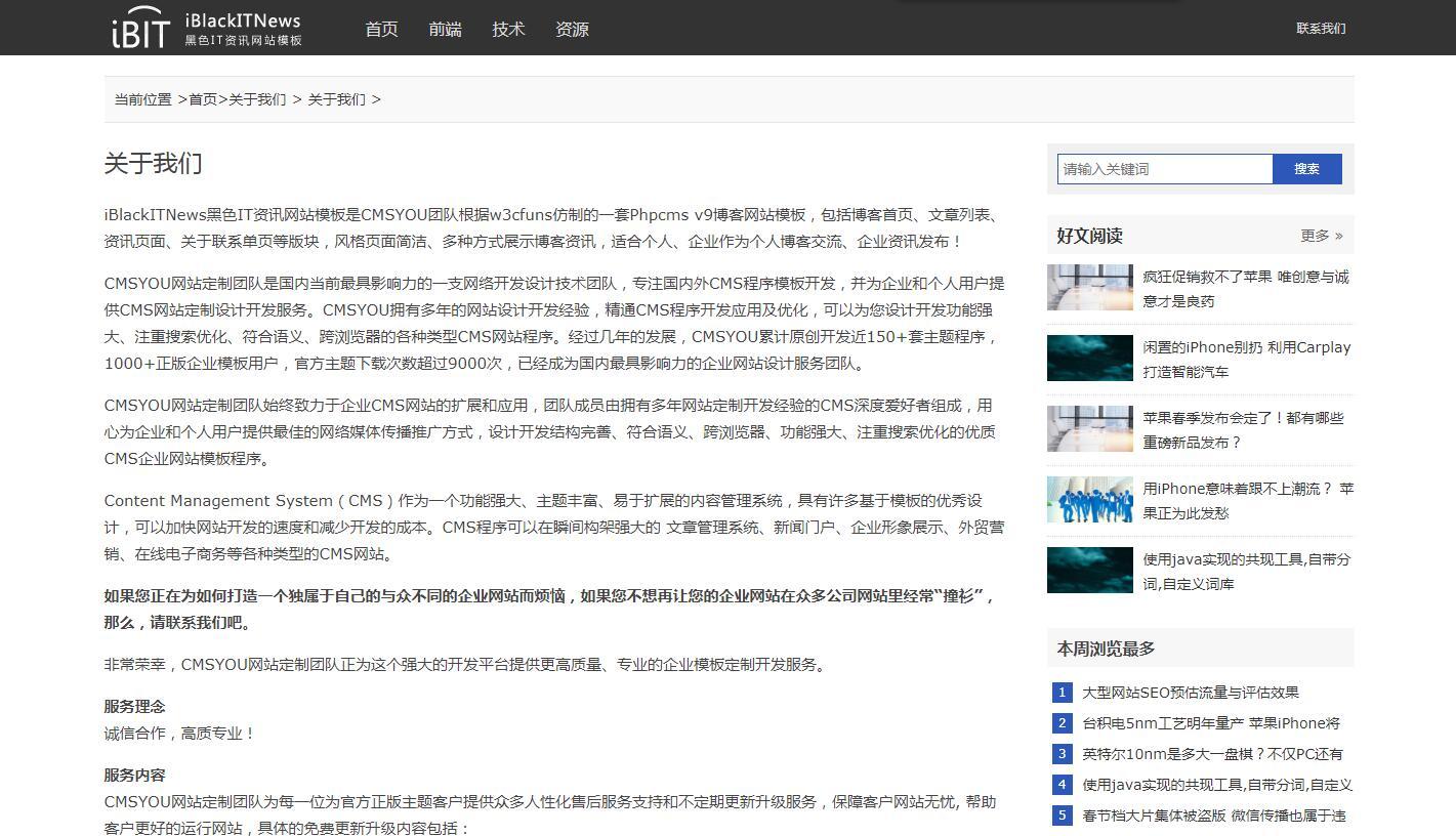 iBlackITNews黑色IT资讯网站模板_005