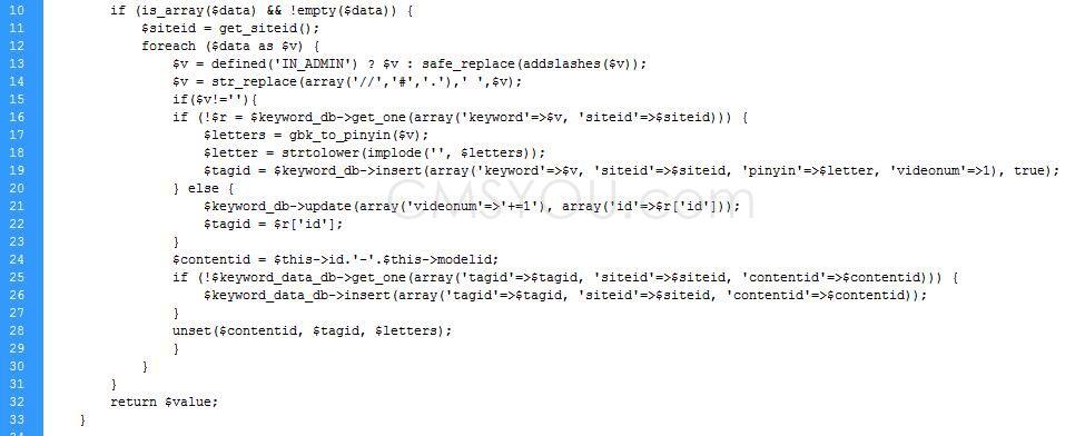 Phpcms v9关键词为空时插入报错:Duplicate entry