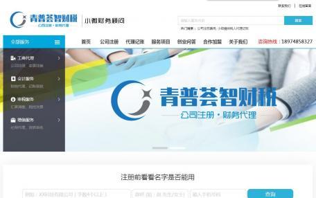 青普荟智财税咨询企业网站定制
