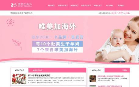 iPinkServices粉红色服务企业网站自适应升级定制